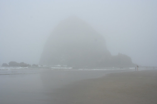 Haystack Rock in the Fog