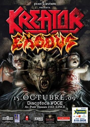 Kreator y Exodus concierto en Lima, Peru