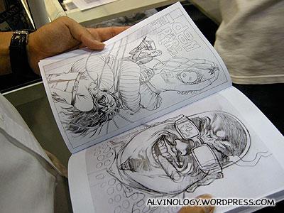 Comic artist, Brian Bollands autographed sketchbook on sale