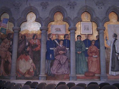 Mural: San Francisco history: Grace Cathedral
