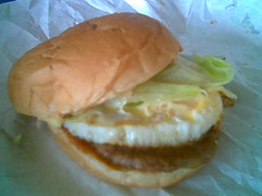 Sugar Bun's cheese burger with egg 2