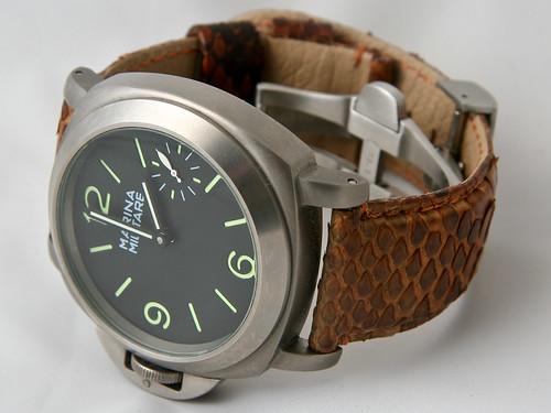 Marina Militare on Python leather strap