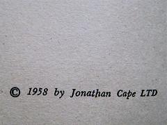 Anonimo (Michael Nelson), Una camera a Chelsea, Longanesi 1961, verso del frontespizio. (part.) 1