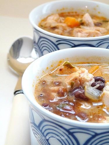 Zuppa di pollo alla paprika fumé