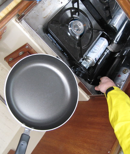 Boat stove and skillet