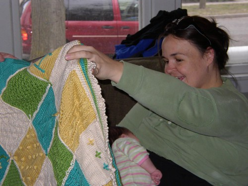 Holly and baby blanket