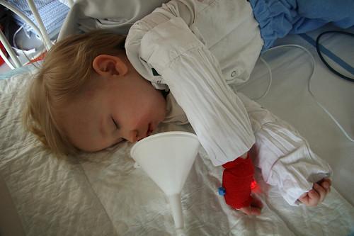 After surgery - not yet awake