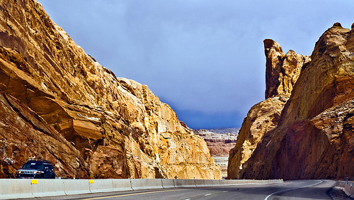 The end of I-70s passage through the San Rafael Swell.