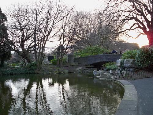lake at Stephens Green with bridge
