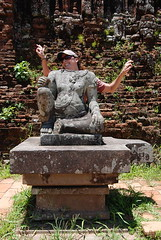 Fun with ruins at My Son outside Hoi An