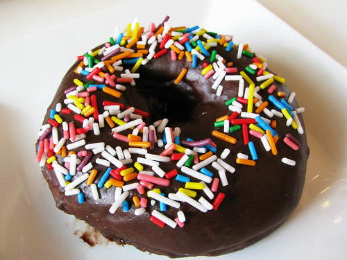 Chocolate Glazed with Sprinkles