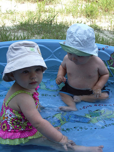 Lizzy and Joe in the Pool