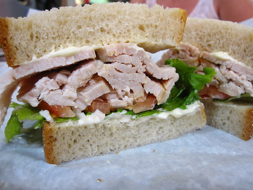 Turkey Sammie w/ Mayo on Homemade Sourdough - Bassetts Original Turkey in Reading Terminal Market