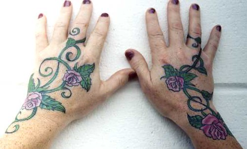 Mary's Rose Vine Hands. Artist: Megan Murphy