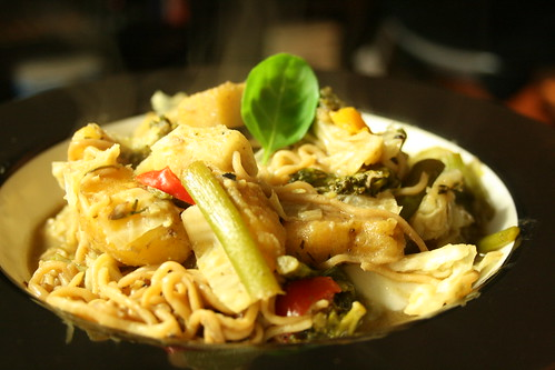 Thai Green Curry with Plantains and Peppers