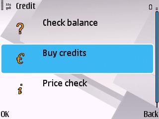 FishText Credit Menu