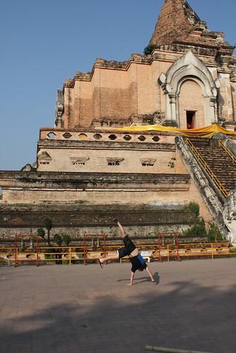 Wat Phra Singh Cartwheel