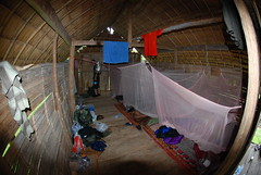 Our hut on night one of the Chiang Mai Jungle Trek