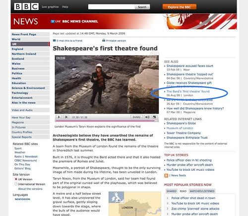 BBC NEWS | UK | Shakespeare's first theatre found