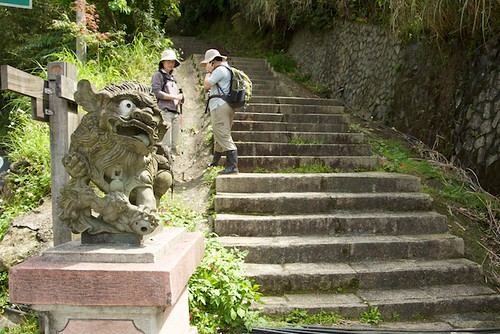 One of the most obvious trail heads in Taiwan also has a welcoming lion.