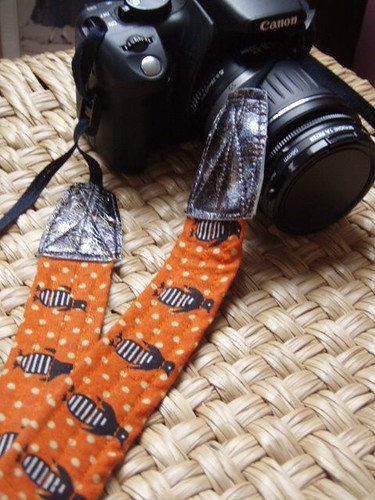 camera strap - penguins - 1