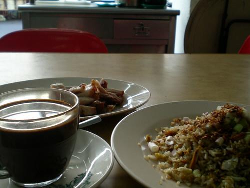 A fried rice breakfast