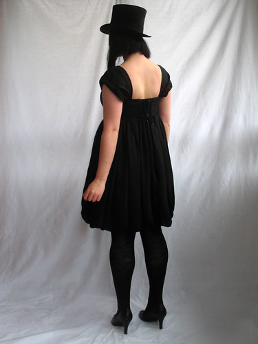 empire waist balloon dress - back