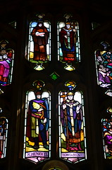 King Henry II and Thomas Beckett window in Wor...