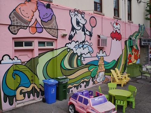The Big Chill ice cream shop mural
