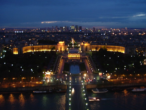 View from the top of the Eiffel Tower. My first overseas trip.