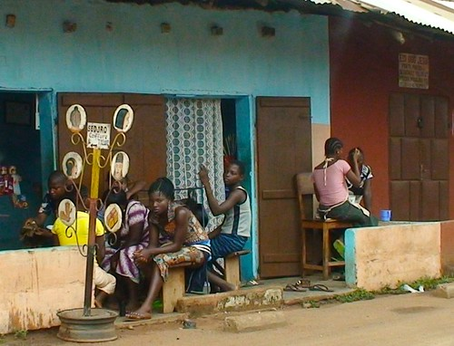 BENIN: Roadside Hair Salon near Abomey