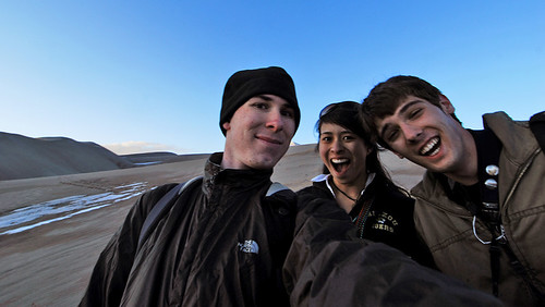 L-R: Jeff, me and Esten at the Great Sand Dunes! We look ridiculous.