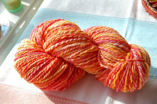 Superwash merino two-ply yarn