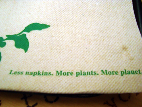 is napkin right