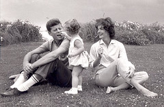 John F. Kennedy, wife Jacqueline and daughter ...