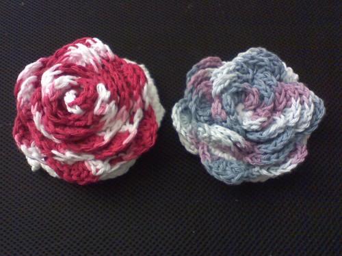 * Rose bath pouf - very pretty!