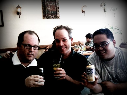Taken w/ Derek's iPhone! The three caballeros! Mike, Derek, Arnold
