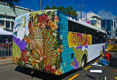 Bus painting, Wellington, New Zealand, 21 Feb....