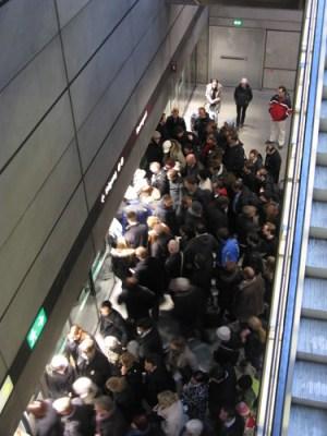 Crowded Nørreport Station