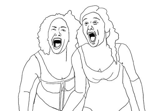 Loes Nuijten and Anna van Ruiten, sketch 2