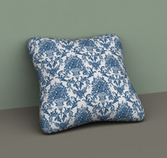 Blue Patterned Pillow