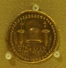 Denari romà commemoratiu de l'assassinat de Cè...