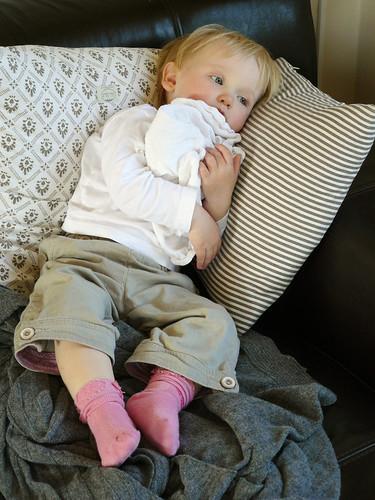 Feverish little girl