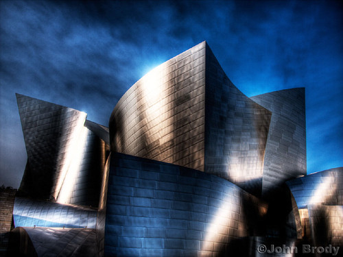 Walt Disney Concert Hall at Dusk