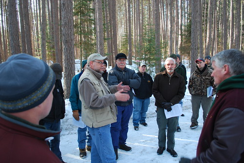 Aitkin County land commissioner Mark Jacobs addressed foresters, researchers and others at the Cloquet Forestry Center in February during the 2009 Forest Values and Carbon Markets conference. Photo by Philip Potyondy