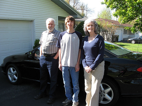 With grandparents - 4-09