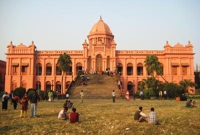 Front view of Ahsan Manzil