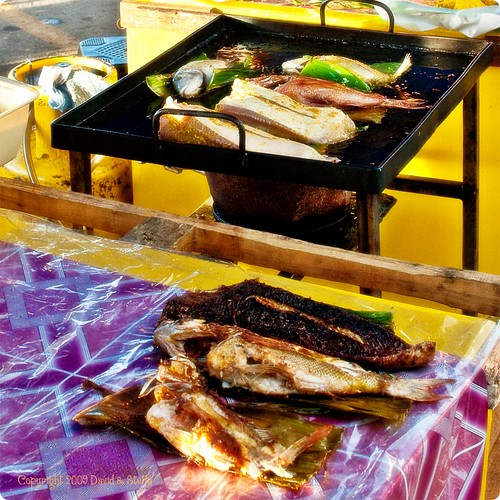 Fish pan-fried on banana leaf II