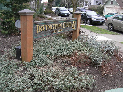 Irvington Club Sign