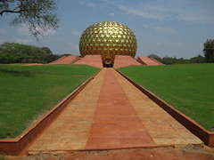 The Matrimandir: Auroville's spiritual center